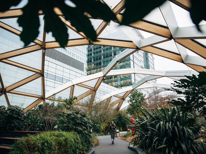 Canary Wharf gardens