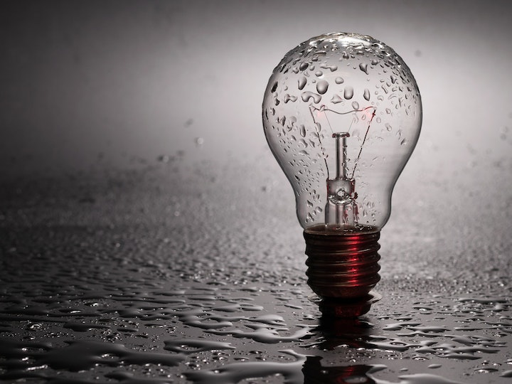 Energy light bulb rain