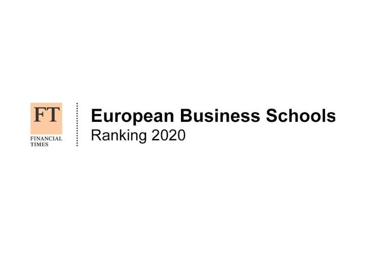 FT European Business Schools 2020