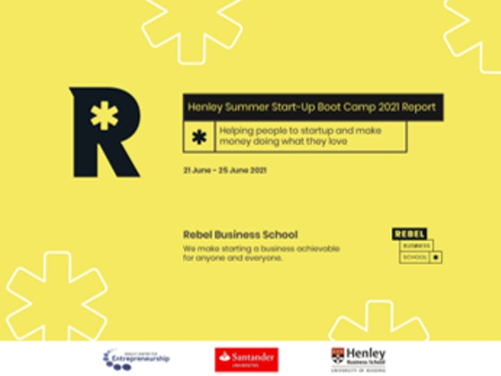 Henley Summer Start Up Boot Camp Report 2021 Title Page