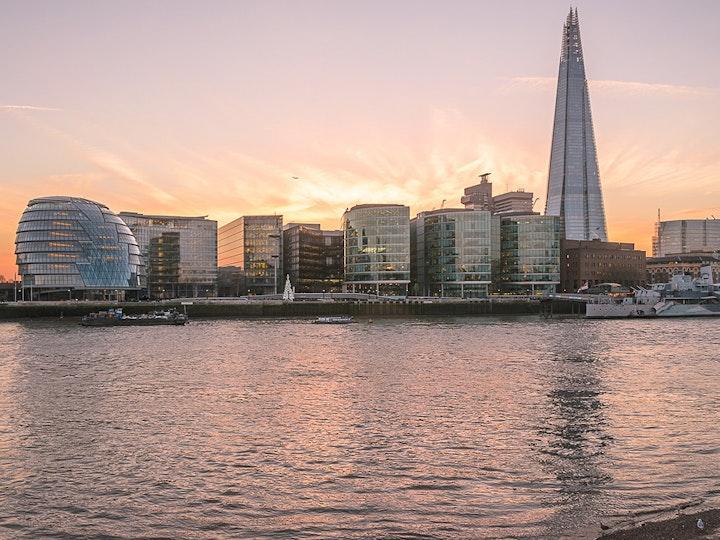 Stock photo london skyline orange sunset sky garden city summer sun 450766765 1