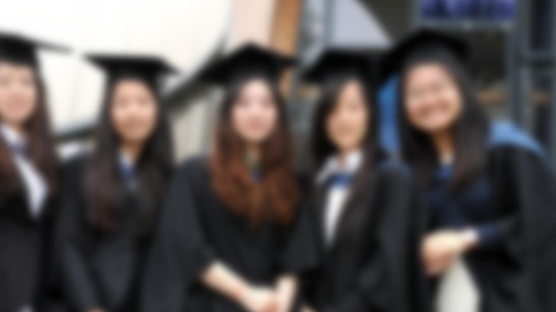 Pg grads female blur